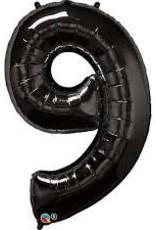 "Qualatex 34"" Number Nine - Onyx Black"