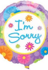 "Qualatex 18"" Im Sorry Flowers"