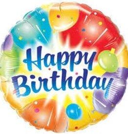 "Qualatex 36"" Birthday Balloons Ablaze Blue"