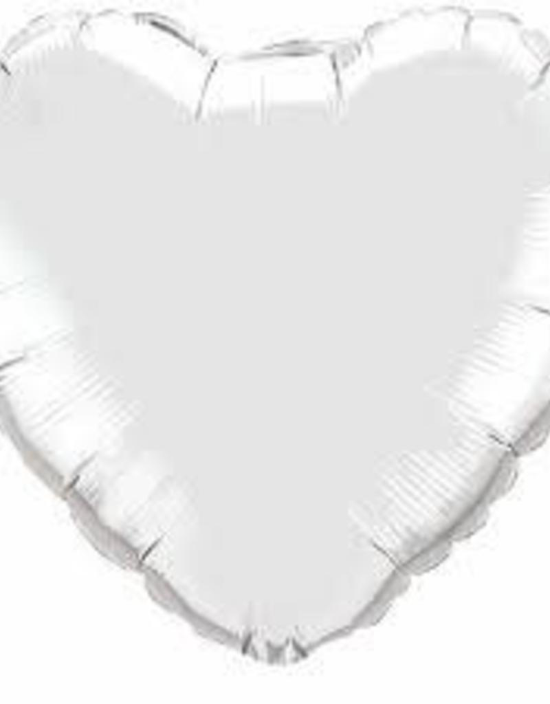 "Qualatex 18"" Silver Heart"
