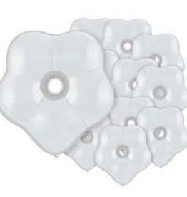 "Qualatex 06"" GEO BLOSSOM WHITE 50CT"
