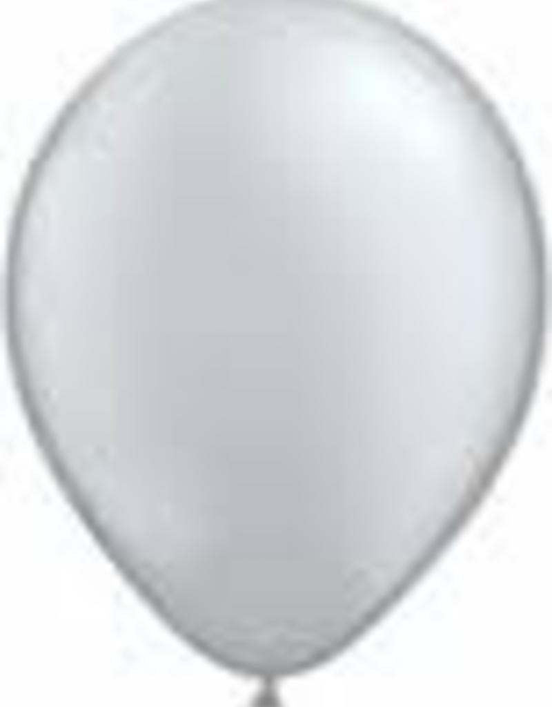 "Qualatex 09"" ROUND SILVER 100CT"