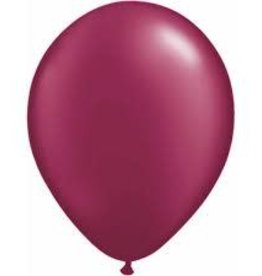 "Qualatex 11"" RND SPARKLING BURGUNDY 100CT"