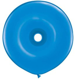 "Qualatex 16"" DONUT DARK BLUE 25CT"