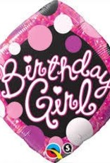 "Qualatex 18"" Birthday Girl Pink & Black"