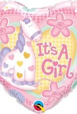 """Qualatex 18"""" Its A Girl Soft Pony"""