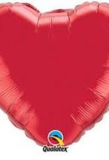 "Qualatex 18"" Ruby Red Heart"