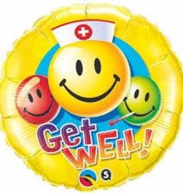 """Qualatex 18"""" Get Well Smiley Faces"""