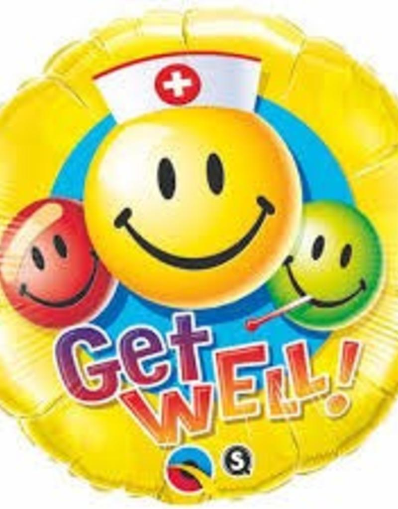 "Qualatex 18"" Get Well Smiley Faces"