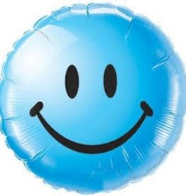 "Qualatex 18"" Smiley Face Blue"