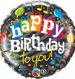 "Qualatex 18"" Happy Birthday To You (Music Notes)"