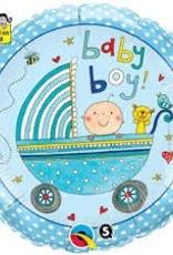 """Qualatex 18"""" Baby Boy Stroller - Rachel Ellen"""