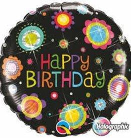 "Qualatex 18"" Birthday Funky Dots"