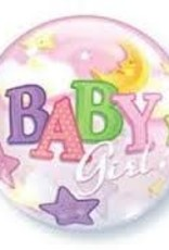 "Qualatex 22"" Bubble - Baby Girl"