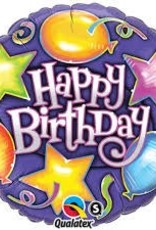"Qualatex 18"" Birthday Stars & Balloons"