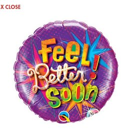 "Qualatex 18"" Feel Better Soon Star Bursts"