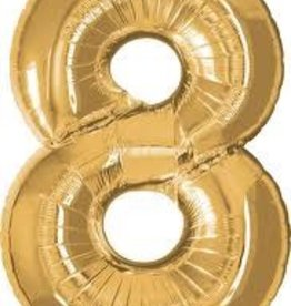 "Qualatex 34"" Number Eight - Gold"