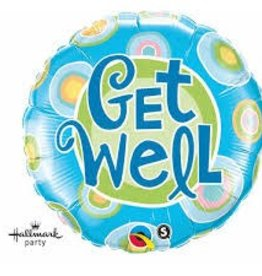 "Qualatex 18"" Get Well Blue Dots"