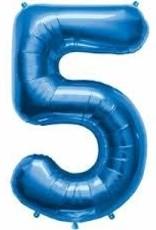"Qualatex 34"" Number Five - Sapphire Blue"