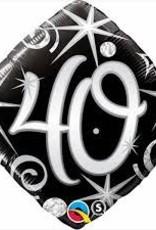 "Qualatex 18"" 40 Elegant Sparkles & Swirls"