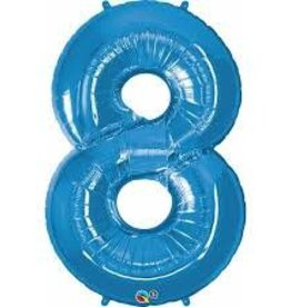 """34"""" Number Eight - Sapphire Blue"""