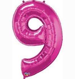 "Qualatex 34"" Number Nine - Magenta"