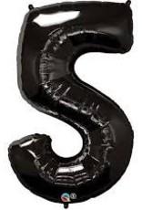 "Qualatex 34"" Number Five - Onyx Black"