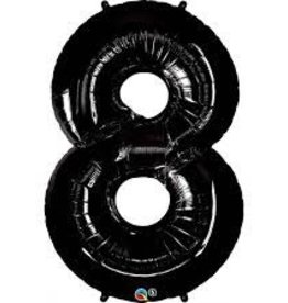 "Qualatex 34"" Number Eight Black Onyx"