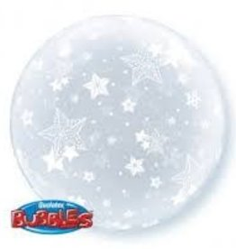 "Qualatex 20"" Deco Bubble - Stars All Around"
