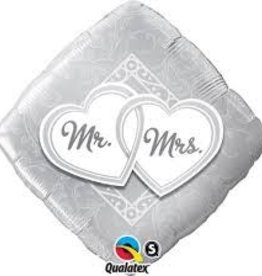 """Qualatex 18"""" Mr & Mrs Entwined Hearts"""