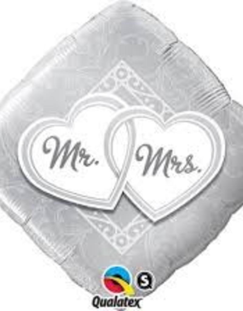 "Qualatex 18"" Mr & Mrs Entwined Hearts"