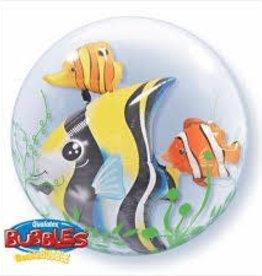 "Qualatex 24"" Double Bubble - Seaweed Tropical Fish"
