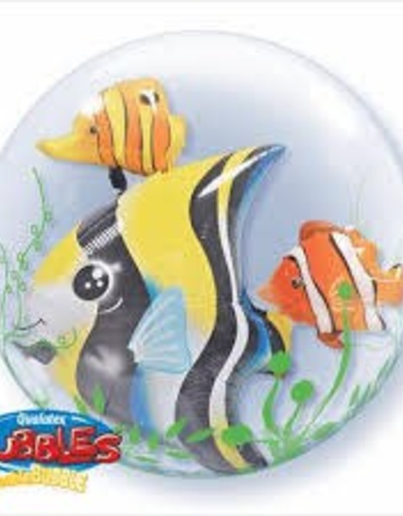 "Qualatex 24"" Double Bubble - Seaweed Tropical Fish"
