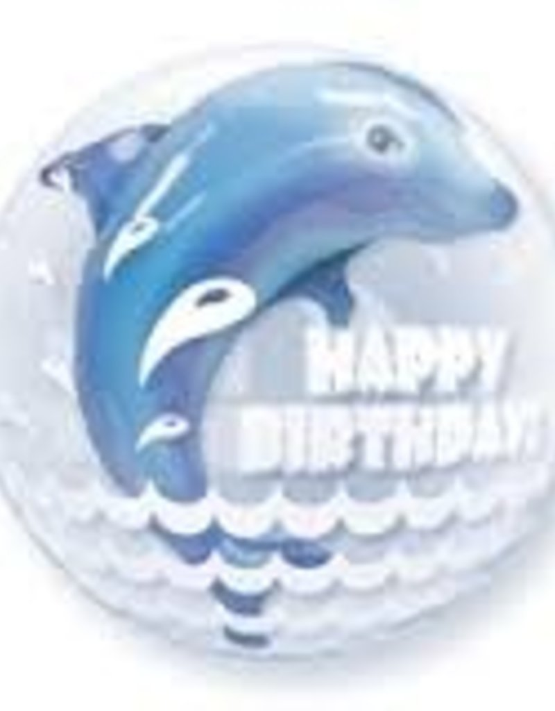 "Qualatex 24"" Happy Birthday Dolphin"