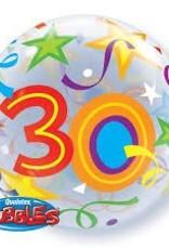 """Qualatex 22"""" Bubble - 30 Brilliant Stars"""
