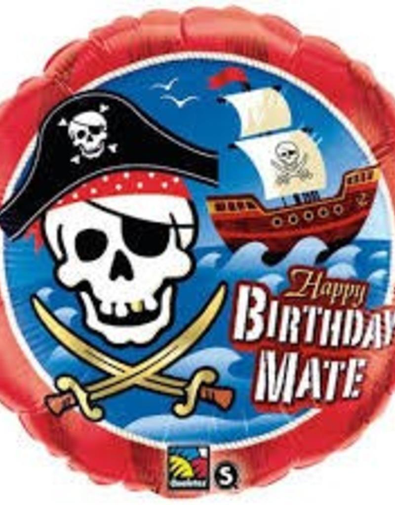 """Qualatex 18"""" BIRTHDAY MATE PIRATE SHIP"""