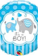 "Qualatex 18"" ITS A BOY ELEPHANT"