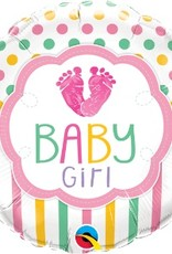 "18"" BABY GIRL LOVE FEET"