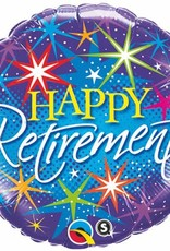 "Qualatex 18"" Happy Retirement Stars"