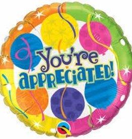 """Qualatex 18"""" You're Appreciated ! Festive"""