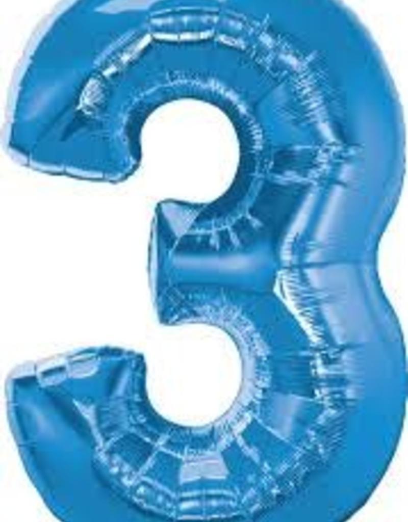 "34"" Number Three - Sapphire Blue"