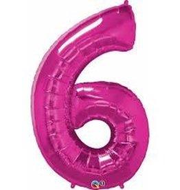 "34"" Number Six Magenta"