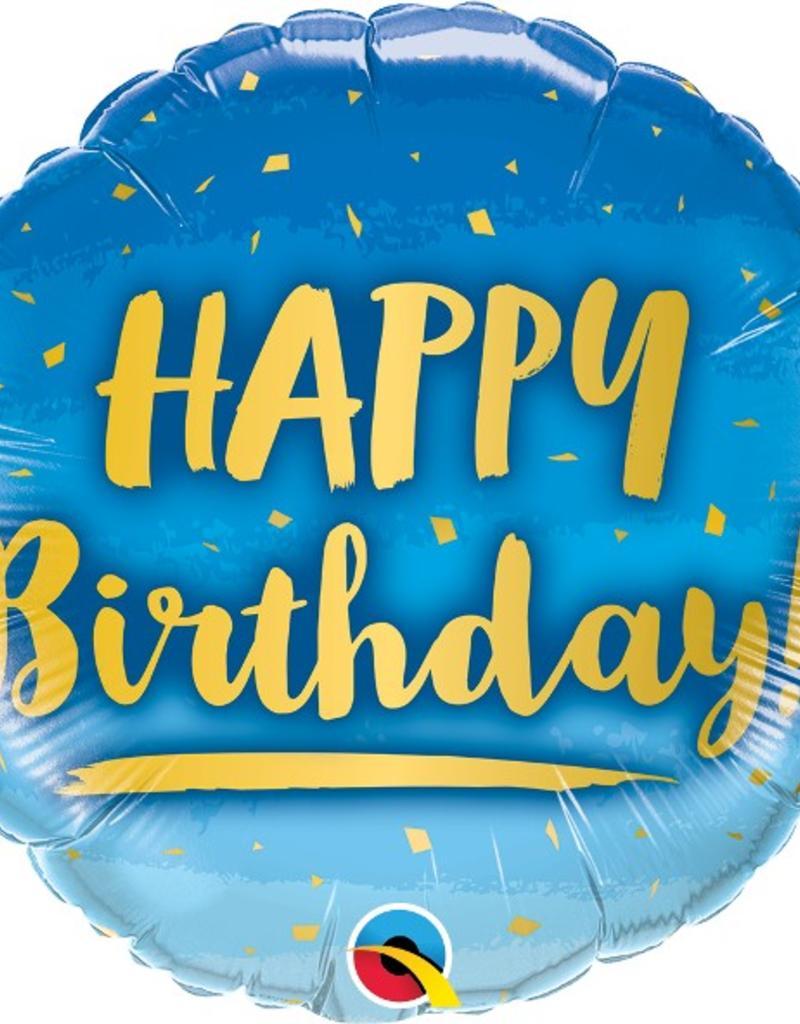 "18"" Birthday Gold & Blue"