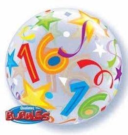 """Qualatex 22"""" Bubble - 16 Brilliant Stars"""
