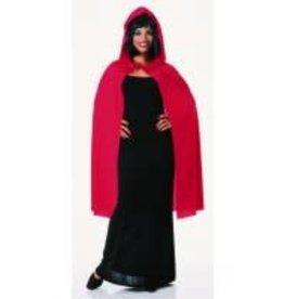 "Rubies Costumes 45"" RED HOODED CAPE -One Size-"