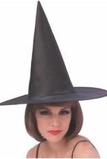 Rubies Costumes BLACK ECONOMY SATIN WITCH HAT