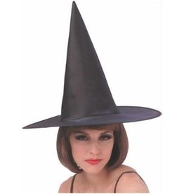 Rubies Costumes BLACK ECONOMY SATIN WITCH HAT