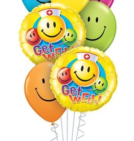 Qualatex Get Well Smiles bouquet set