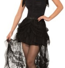 GOTHIC LACE SKIRT - BLACK