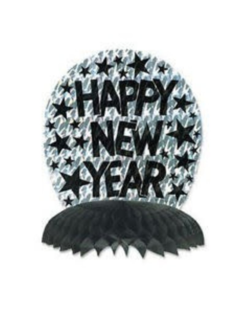 "10"" NEW YEAR PRISMATIC CENTERPIECE SILVER"